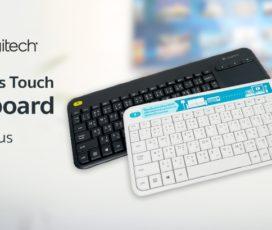 คีย์บอร์ดอเนกประสงค์ Logitech Wireless Touch Keyboard K400 Plus